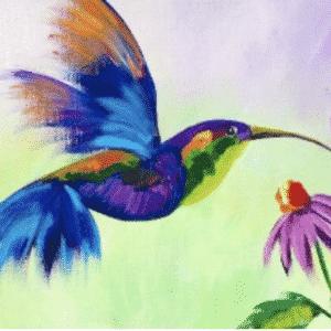 Art Sherpa Inspired Hummingbird