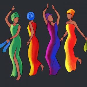 african dancing girls black history month