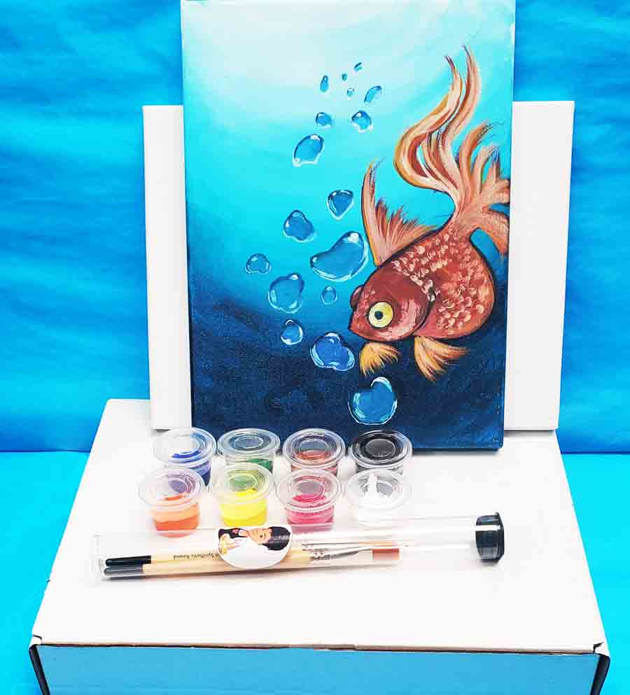 gold fish virtual paint party