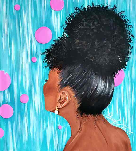pink and bubbly beautiful black girl