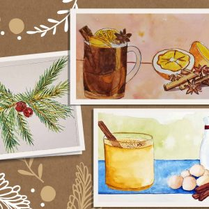 watercolor paint and sip gift