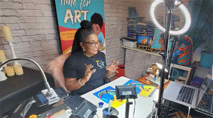 black owned virtual paint and sip